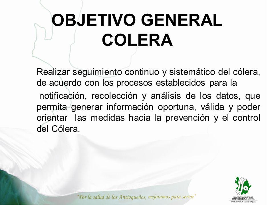 OBJETIVO GENERAL COLERA