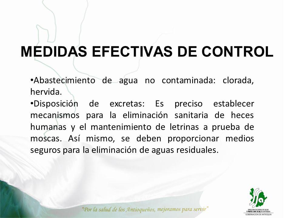 MEDIDAS EFECTIVAS DE CONTROL