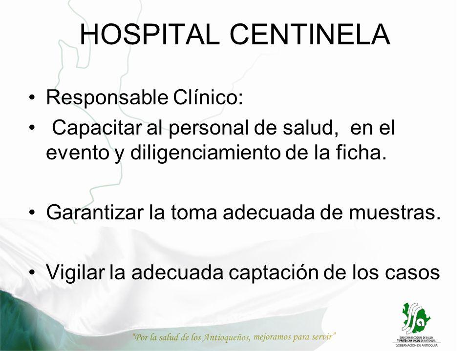 HOSPITAL CENTINELA Responsable Clínico: