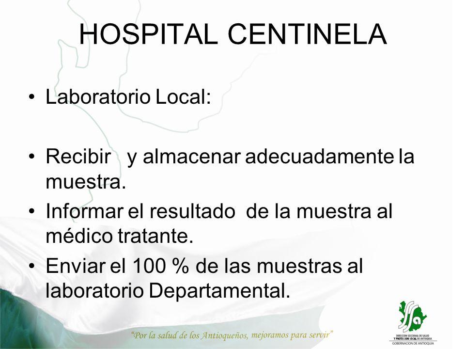 HOSPITAL CENTINELA Laboratorio Local: