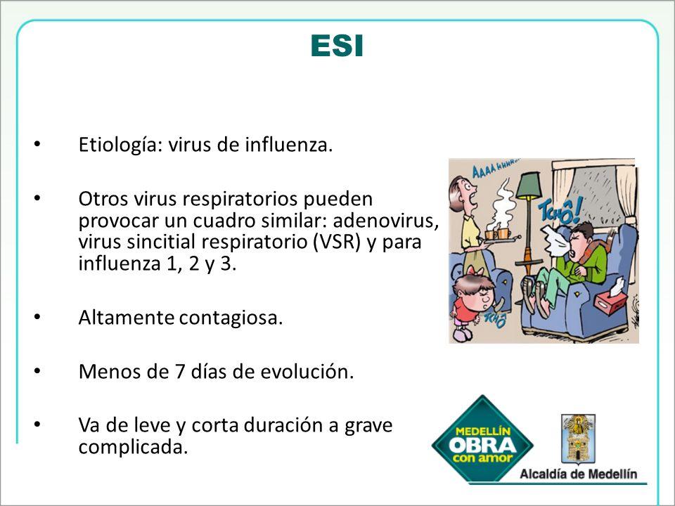 ESI Etiología: virus de influenza.