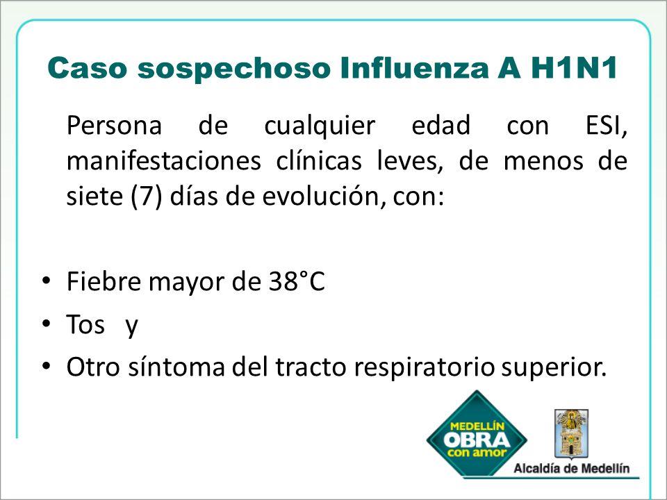 Caso sospechoso Influenza A H1N1