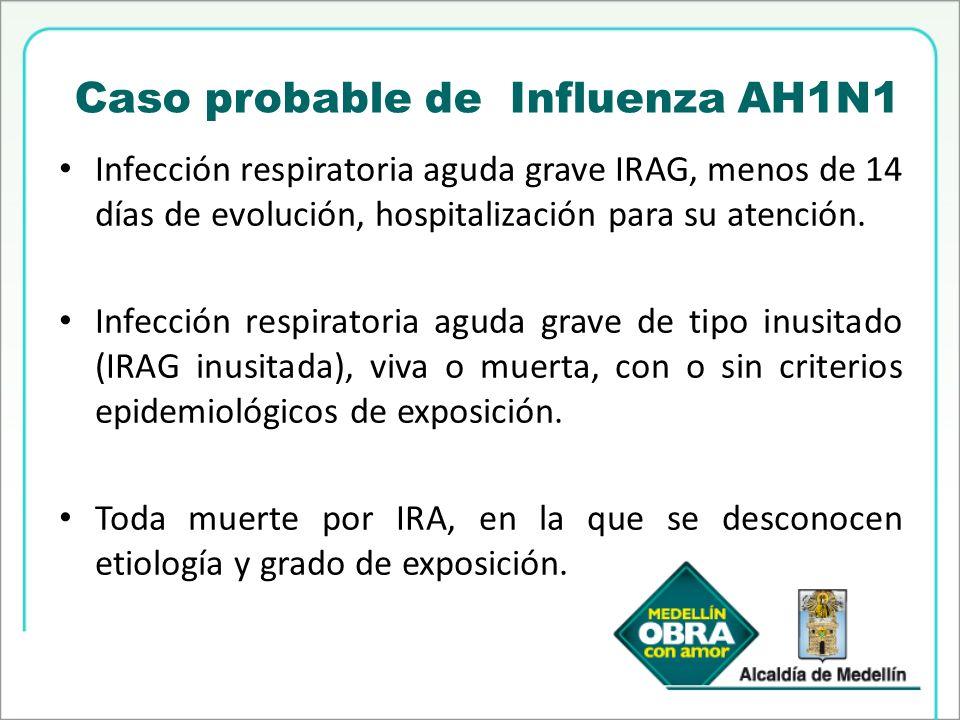 Caso probable de Influenza AH1N1
