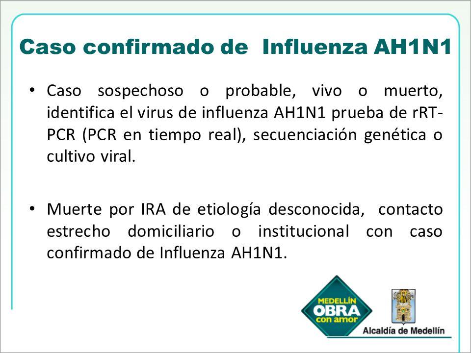 Caso confirmado de Influenza AH1N1