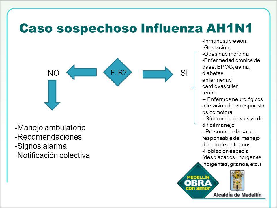 Caso sospechoso Influenza AH1N1