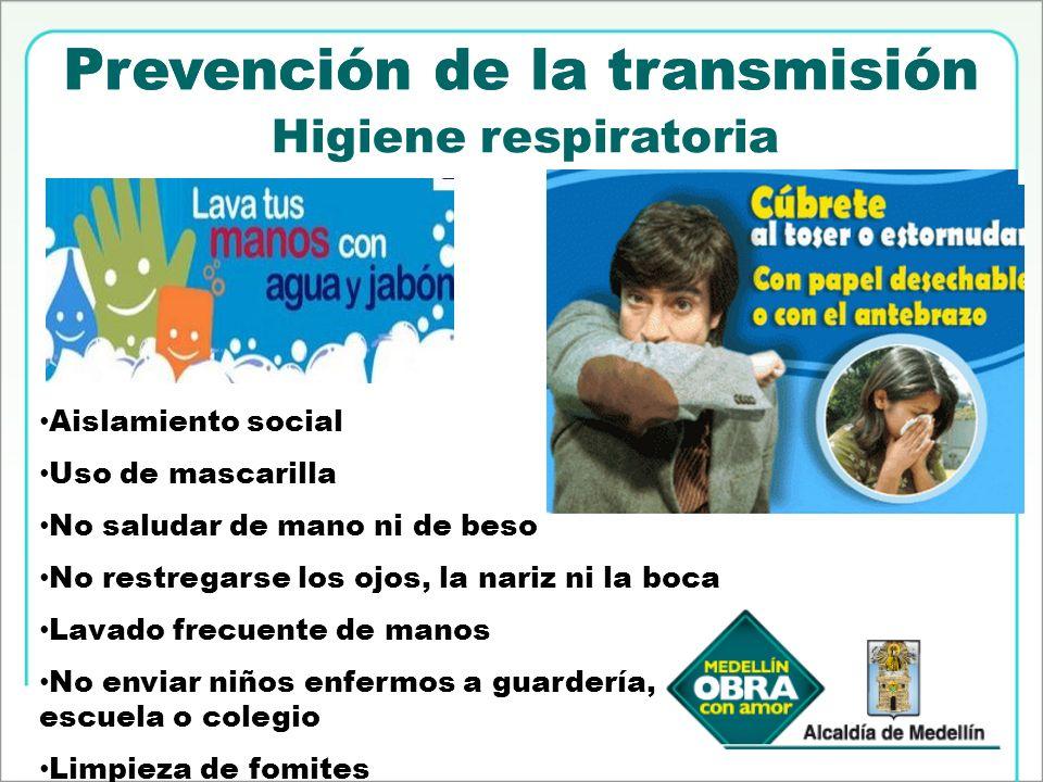 Prevención de la transmisión Prevención de la transmisión