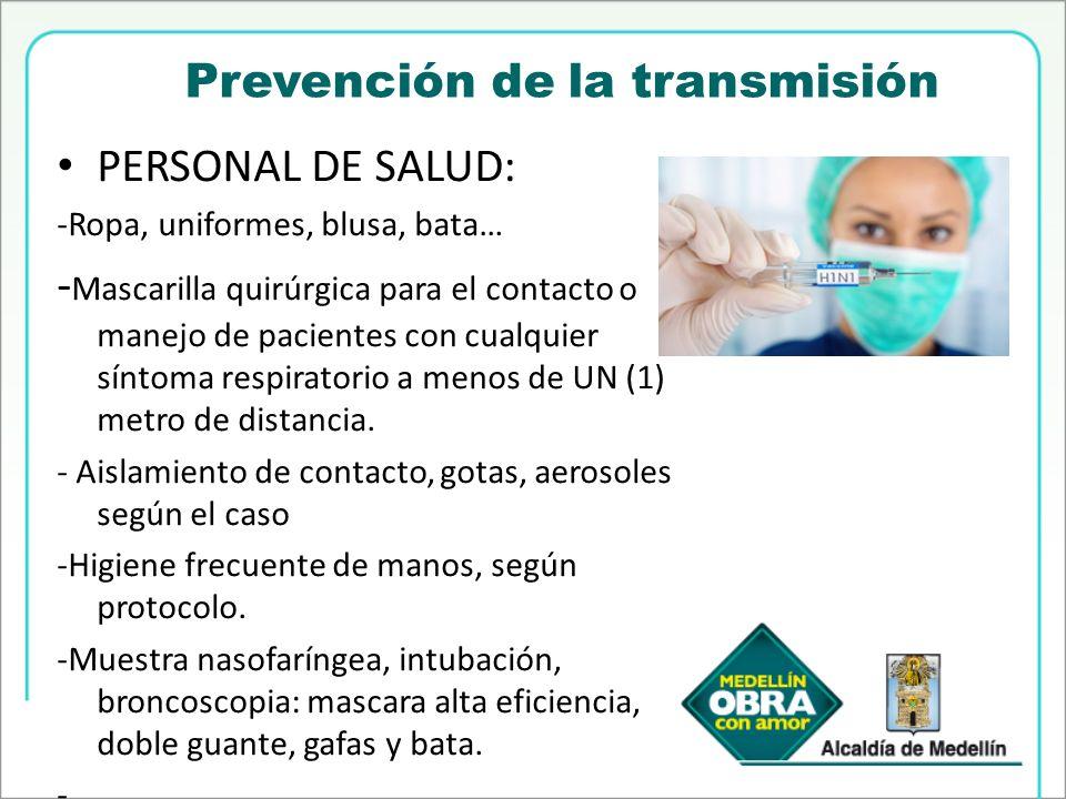 Prevención de la transmisión