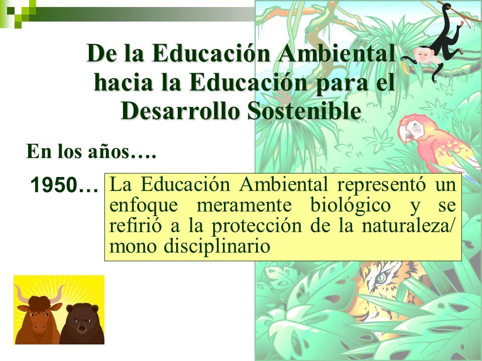 De la Educación Ambiental