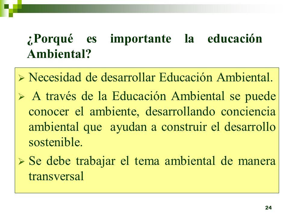 ¿Porqué es importante la educación Ambiental