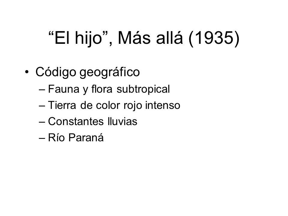El hijo , Más allá (1935) Código geográfico Fauna y flora subtropical