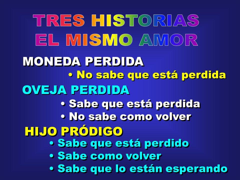 TRES HISTORIAS EL MISMO AMOR MONEDA PERDIDA OVEJA PERDIDA HIJO PRÓDIGO
