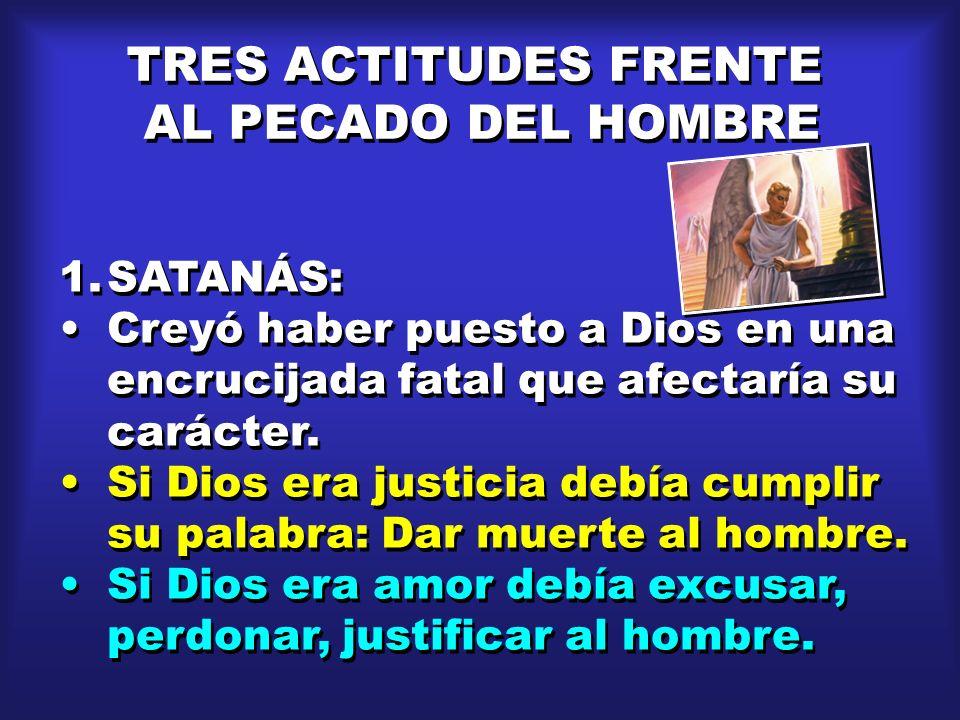 TRES ACTITUDES FRENTE AL PECADO DEL HOMBRE SATANÁS: