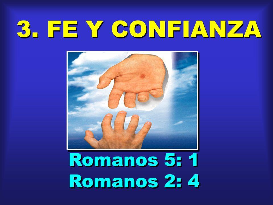 3. FE Y CONFIANZA Romanos 5: 1 Romanos 2: 4