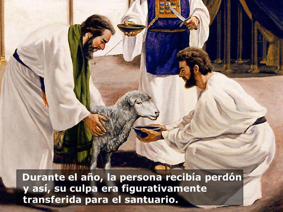 Durante el año, la persona recibía perdón y así, su culpa era figurativamente transferida para el santuario.