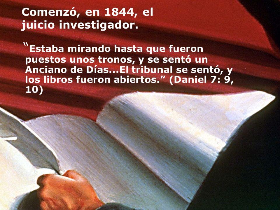Comenzó, en 1844, el juicio investigador.