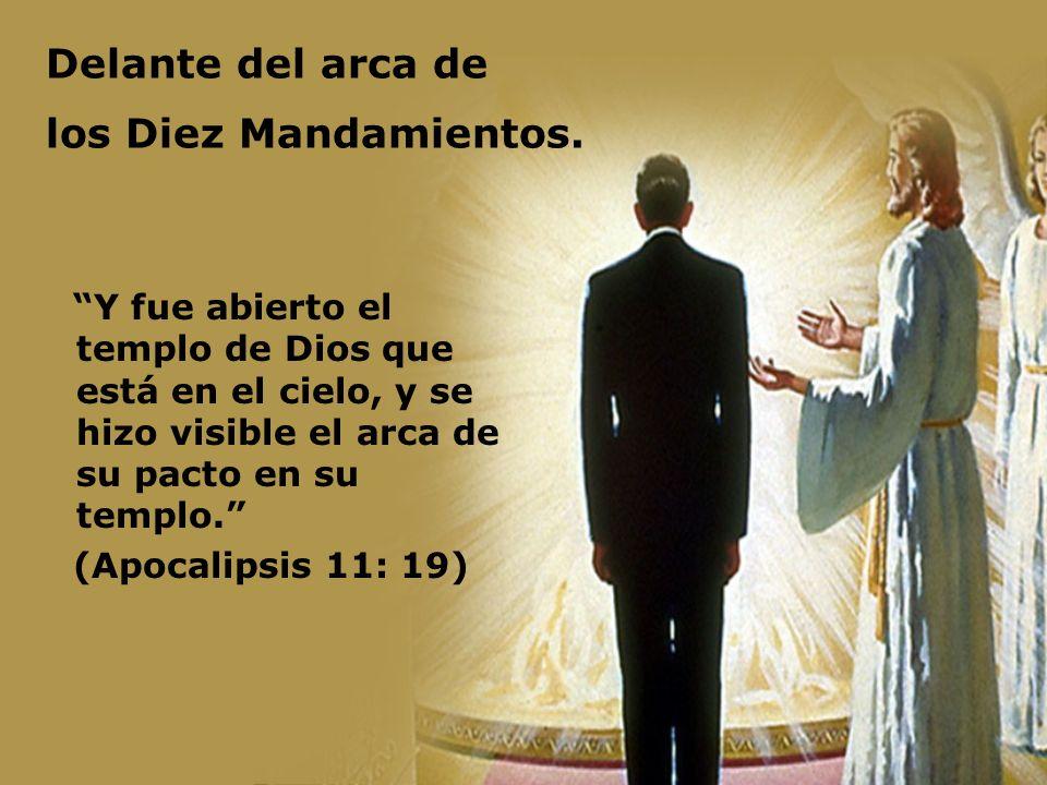 Delante del arca de los Diez Mandamientos.