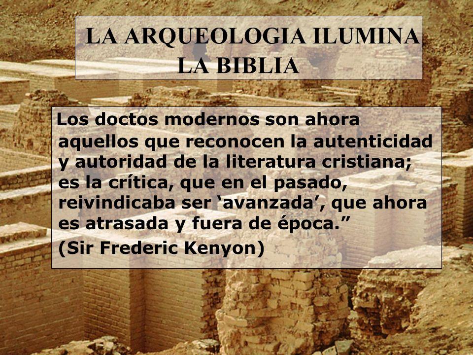 LA ARQUEOLOGIA ILUMINA LA BIBLIA