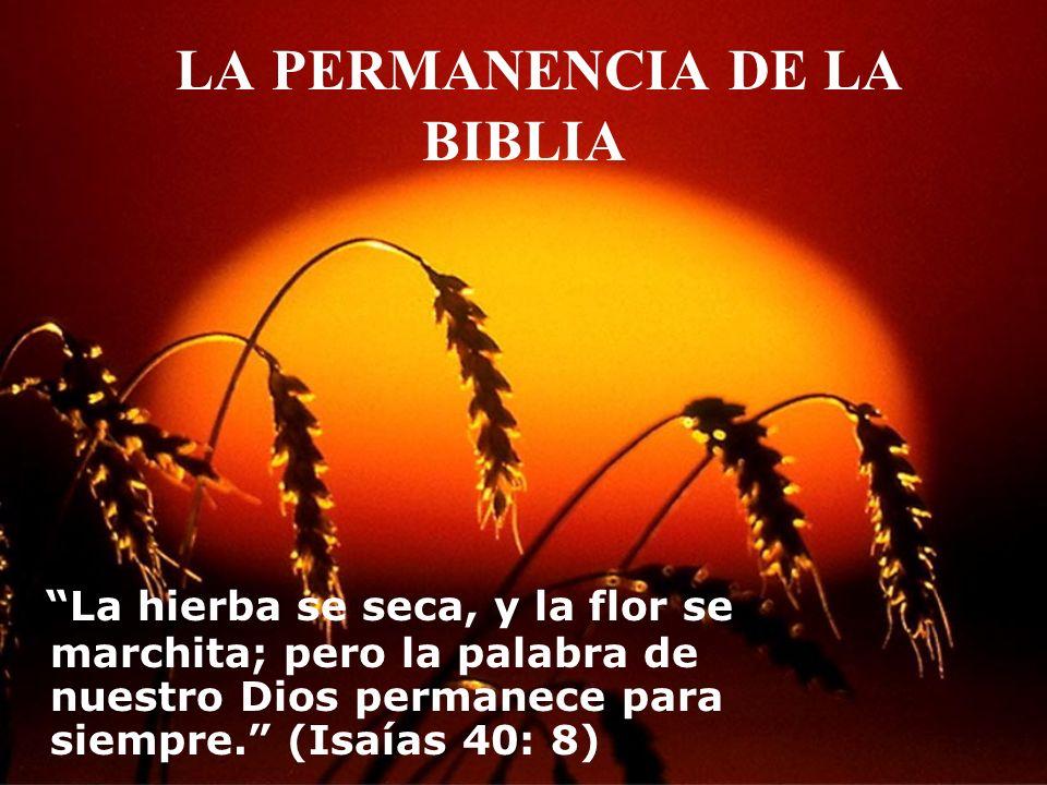 LA PERMANENCIA DE LA BIBLIA