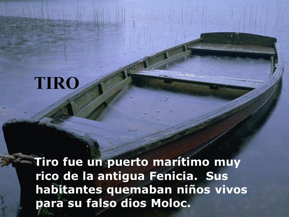TIRO Tiro fue un puerto marítimo muy rico de la antigua Fenicia.
