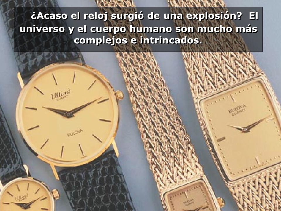 ¿Acaso el reloj surgió de una explosión