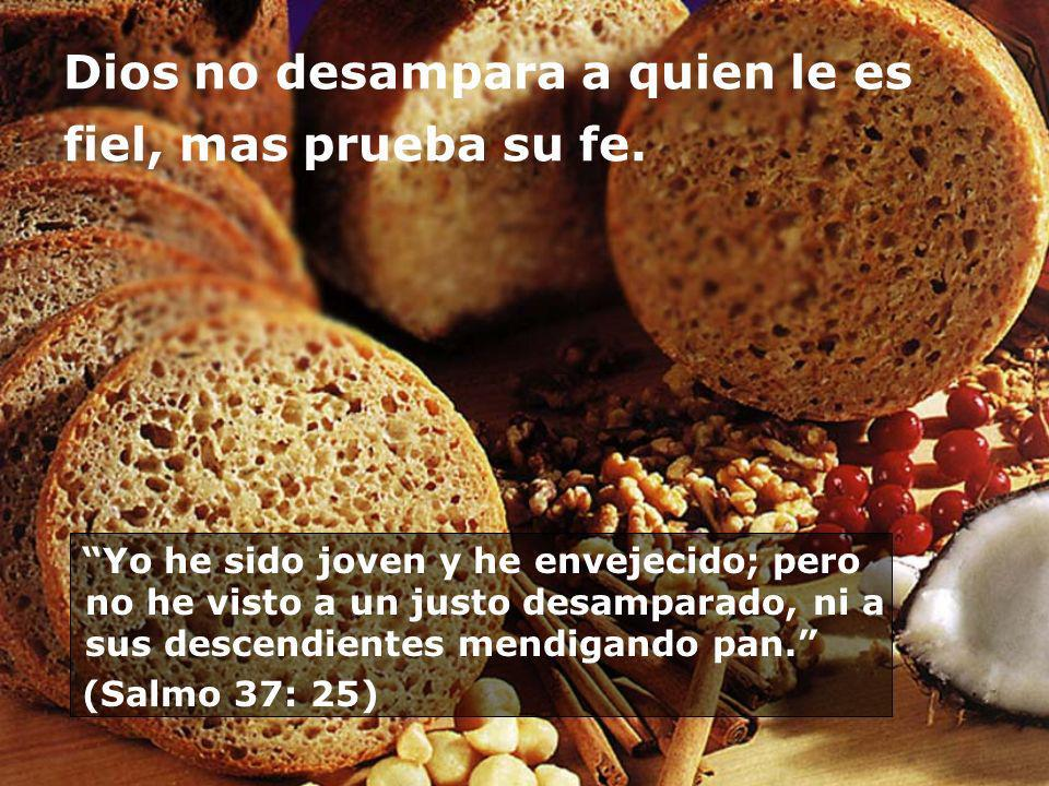 Dios no desampara a quien le es fiel, mas prueba su fe.