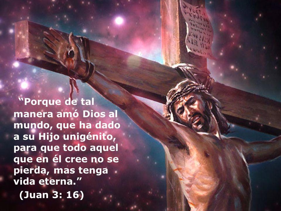 Porque de tal manera amó Dios al mundo, que ha dado a su Hijo unigénito, para que todo aquel que en él cree no se pierda, mas tenga vida eterna.