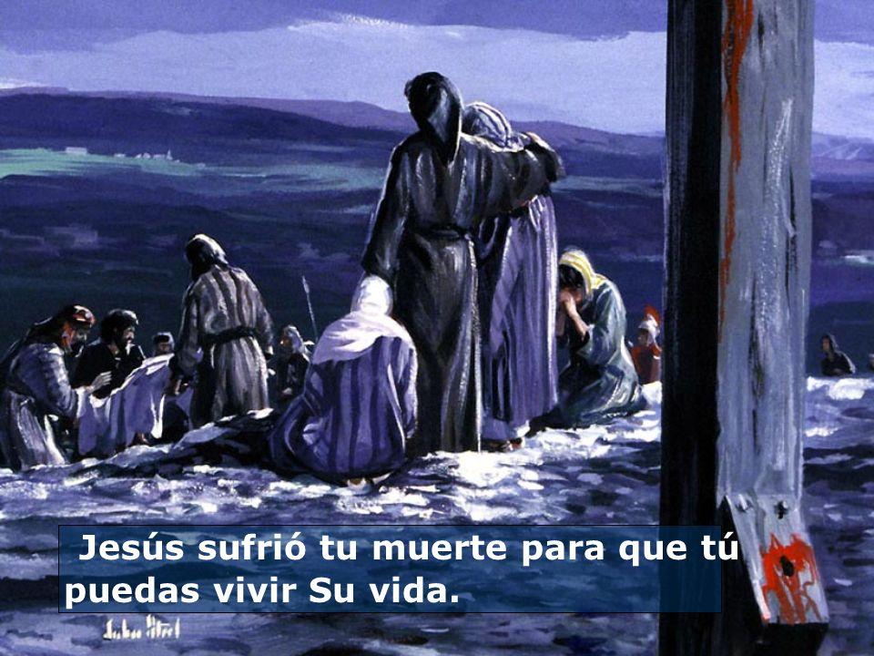 Jesús sufrió tu muerte para que tú puedas vivir Su vida.