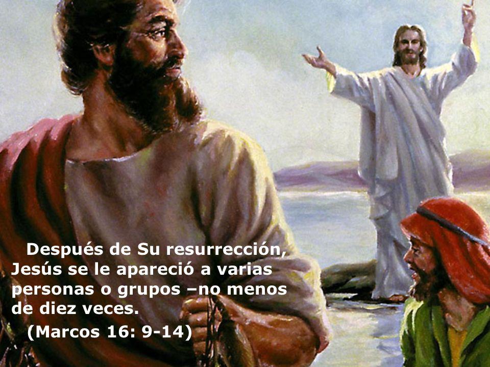 Después de Su resurrección, Jesús se le apareció a varias personas o grupos –no menos de diez veces.