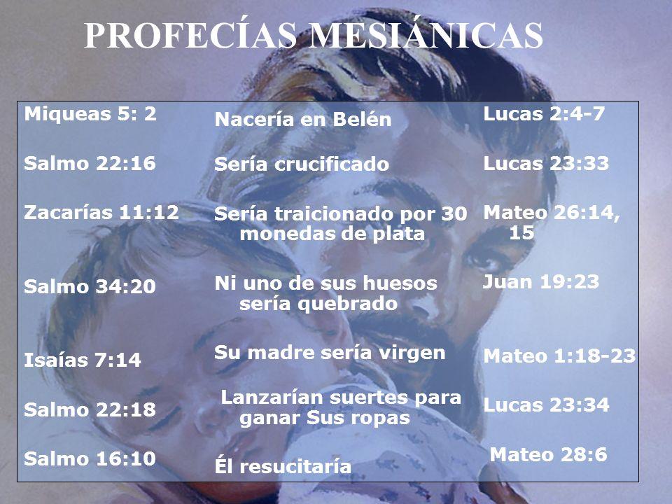 PROFECÍAS MESIÁNICAS Miqueas 5: 2 Salmo 22:16 Zacarías 11:12