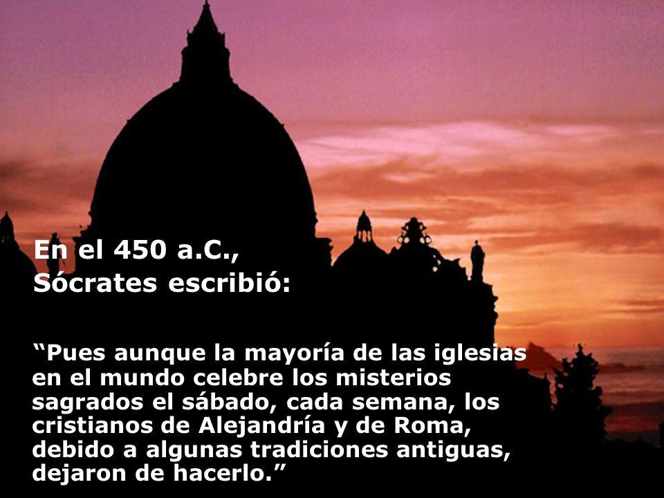 En el 450 a.C., Sócrates escribió:
