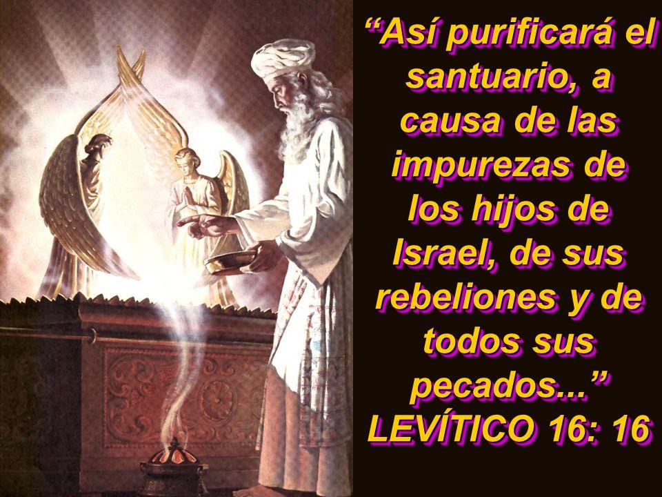 Así purificará el santuario, a causa de las impurezas de los hijos de Israel, de sus rebeliones y de todos sus pecados...