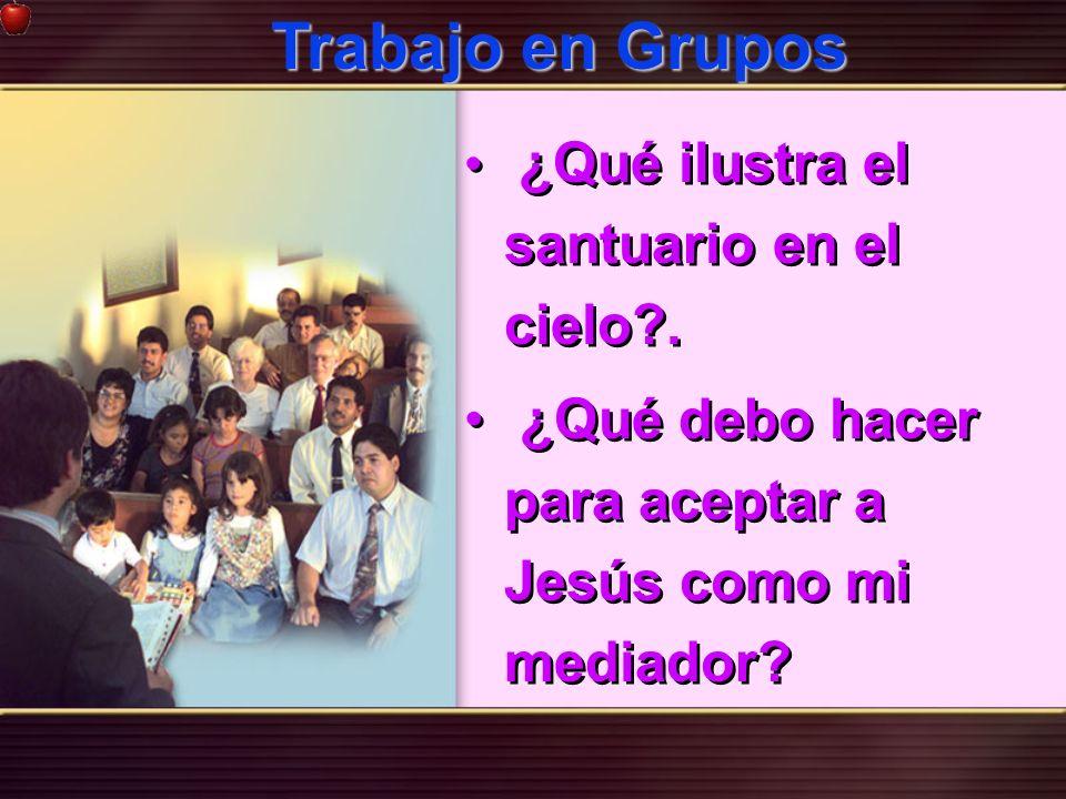 Trabajo en Grupos ¿Qué ilustra el santuario en el cielo .