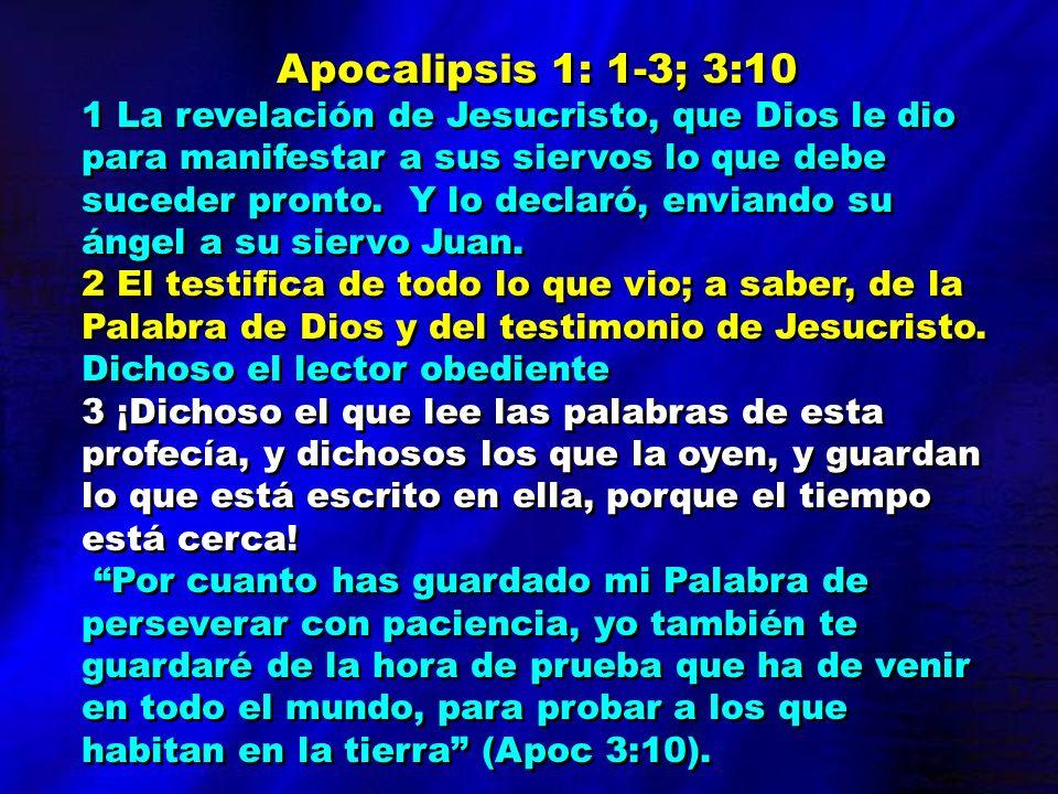 Apocalipsis 1: 1-3; 3:10