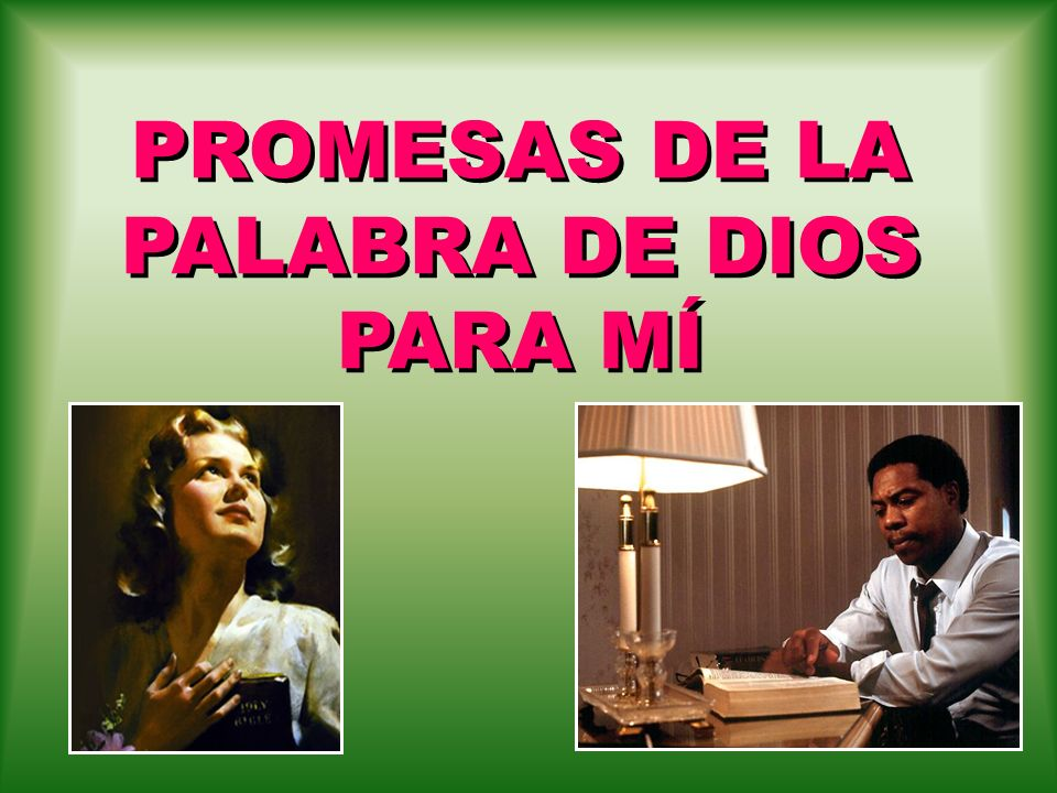 PROMESAS DE LA PALABRA DE DIOS