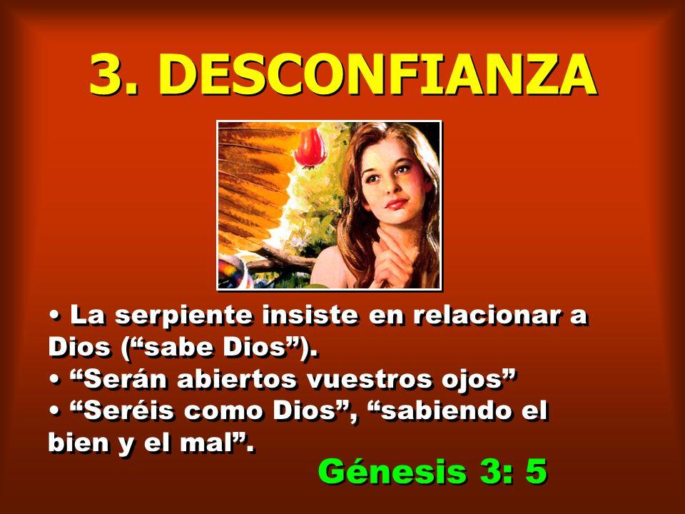 3. DESCONFIANZA Génesis 3: 5