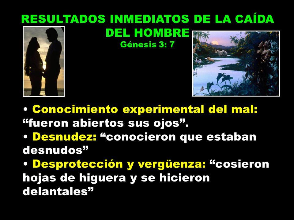 RESULTADOS INMEDIATOS DE LA CAÍDA DEL HOMBRE