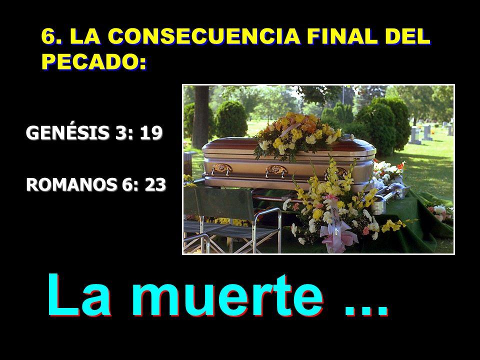 La muerte ... 6. LA CONSECUENCIA FINAL DEL PECADO: GENÉSIS 3: 19