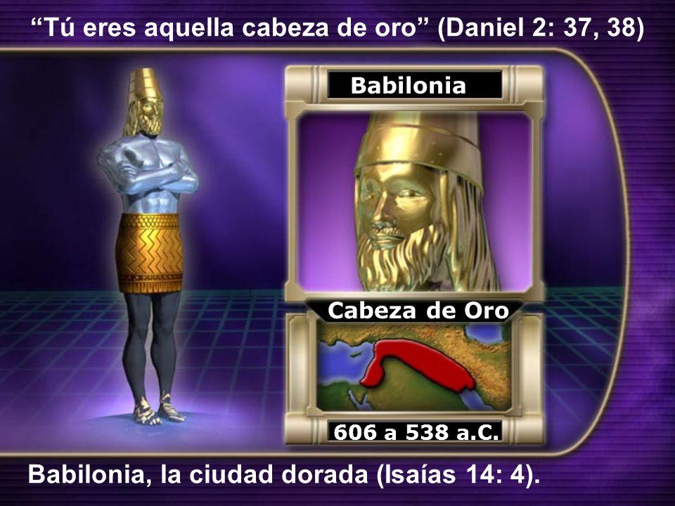 Tú eres aquella cabeza de oro (Daniel 2: 37, 38)