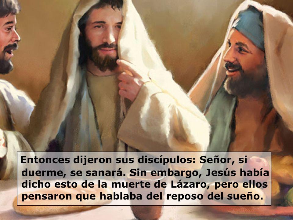 Entonces dijeron sus discípulos: Señor, si duerme, se sanará