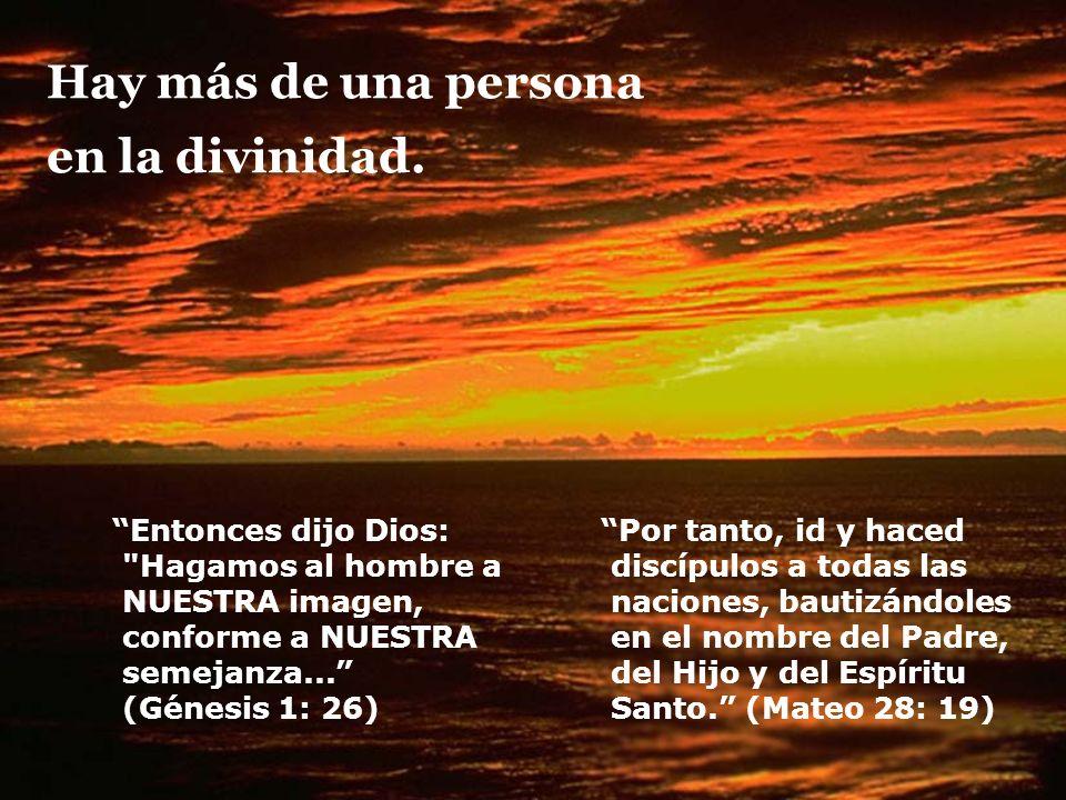 Hay más de una persona en la divinidad.