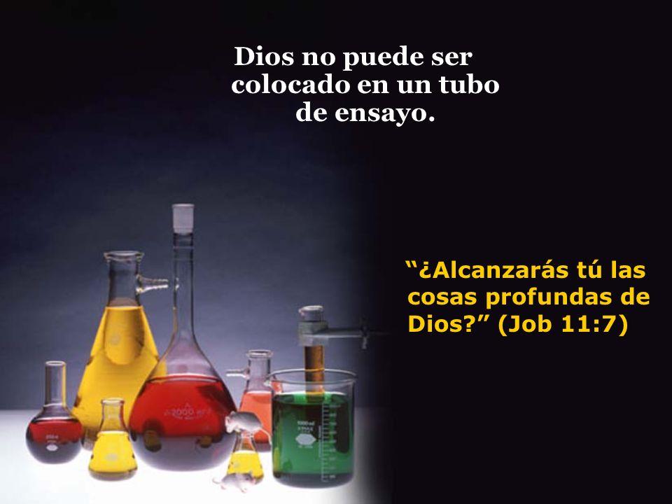 Dios no puede ser colocado en un tubo de ensayo.