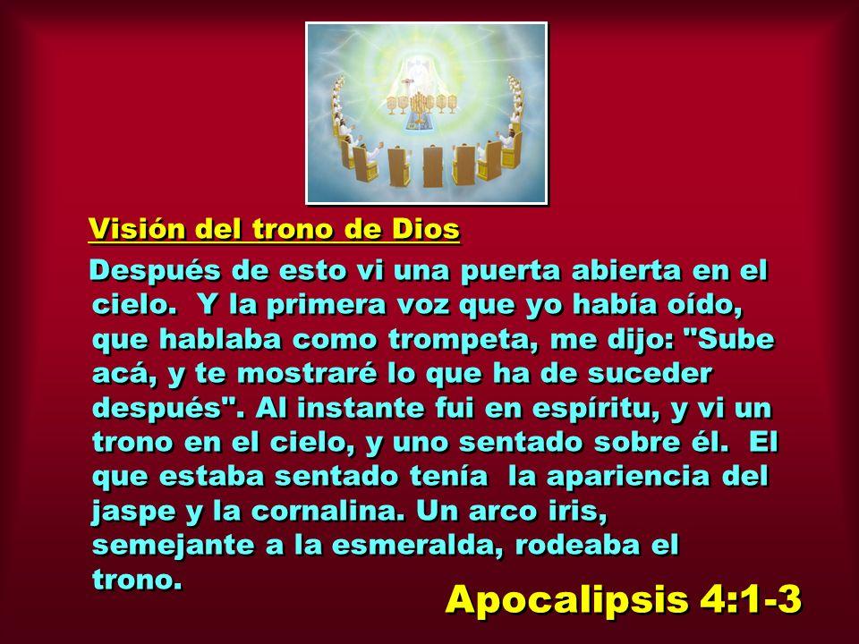 Apocalipsis 4:1-3 Visión del trono de Dios