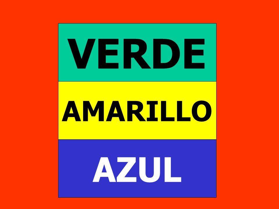VERDE AMARILLO AZUL