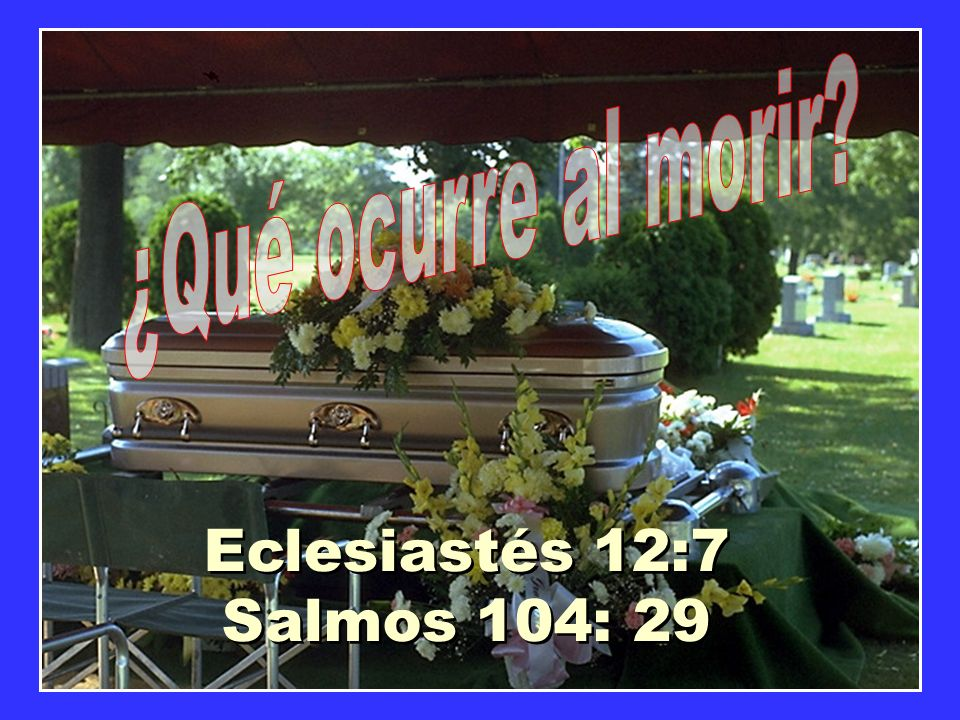 ¿Qué ocurre al morir Eclesiastés 12:7 Salmos 104: 29