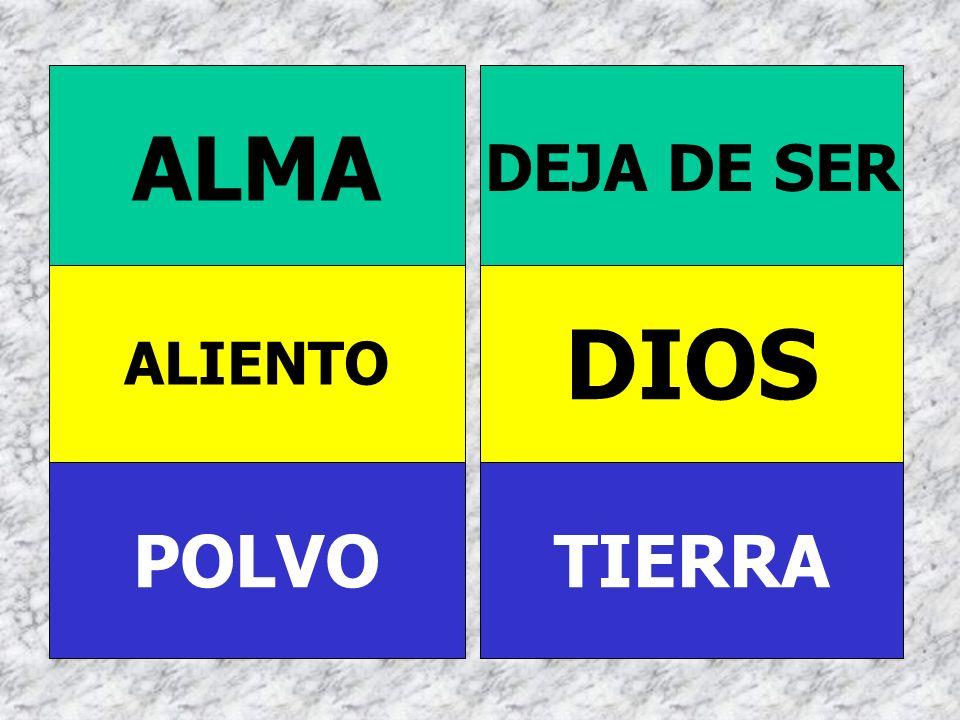 ALMA DEJA DE SER ALIENTO DIOS POLVO TIERRA