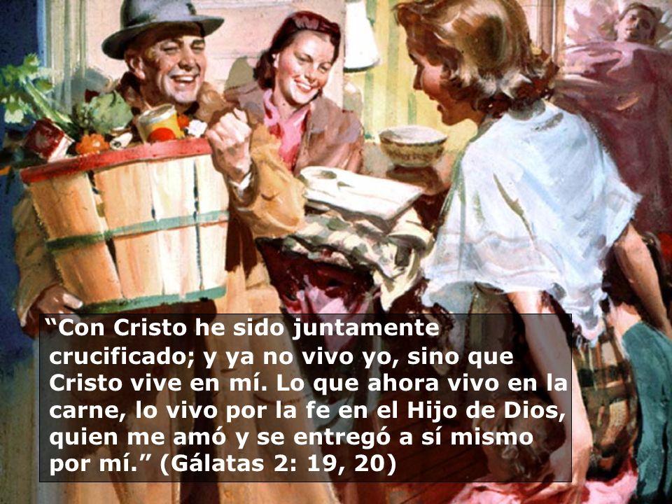 Con Cristo he sido juntamente crucificado; y ya no vivo yo, sino que Cristo vive en mí.