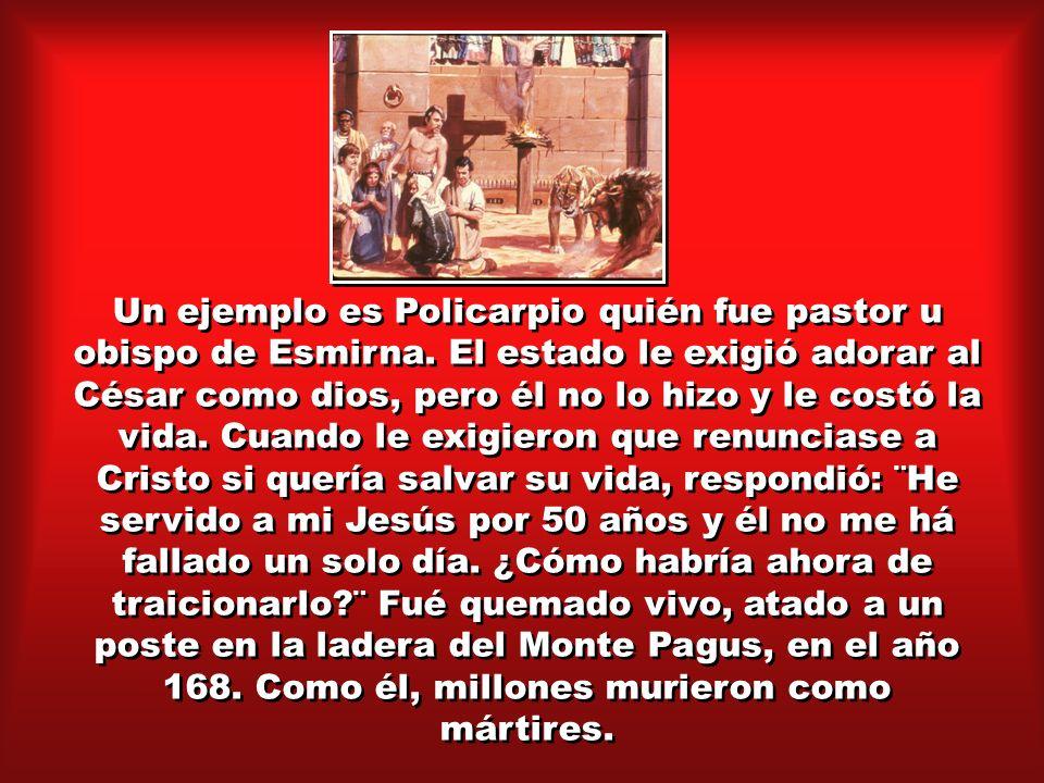 Un ejemplo es Policarpio quién fue pastor u obispo de Esmirna