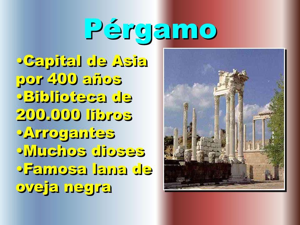 Pérgamo Capital de Asia por 400 años Biblioteca de 200.000 libros