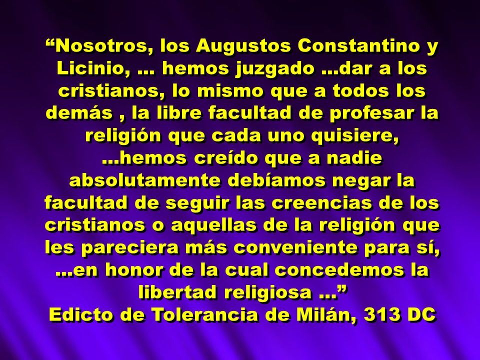 Edicto de Tolerancia de Milán, 313 DC