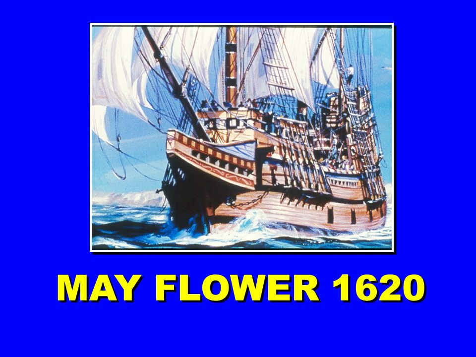 MAY FLOWER 1620